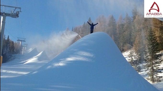 Arabba: la stagione invernale apre in anticipo, da giovedì 24 novembre si potrà sciare su due piste a Passo Campolongo