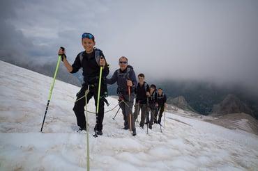 Trekking on the glacier