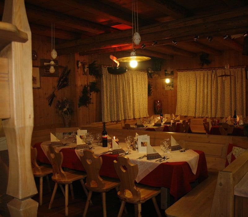 On Thursdays candlelight dinner @ Rifugio Plan Boè