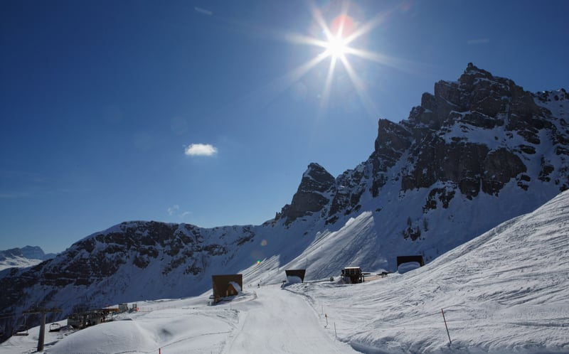 Ski Tour auf den Marmolada Gletscher