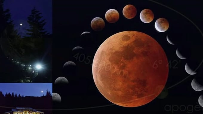 The total lunar eclipse will be longer in the Dolomites