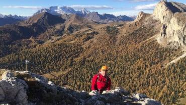 """Klettersteig """"Leutnant Mario Fusetti"""", der Held des Hexensteins – Valparola Pass"""