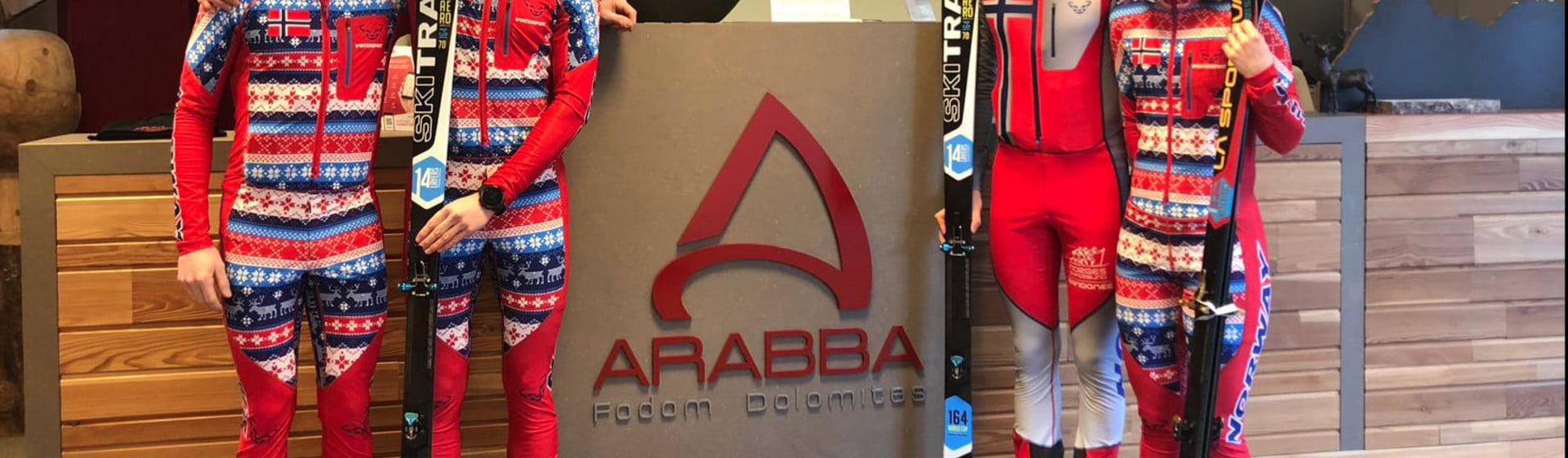 Arabba: training ground for four members of the Norwegian national ski mountaineering team