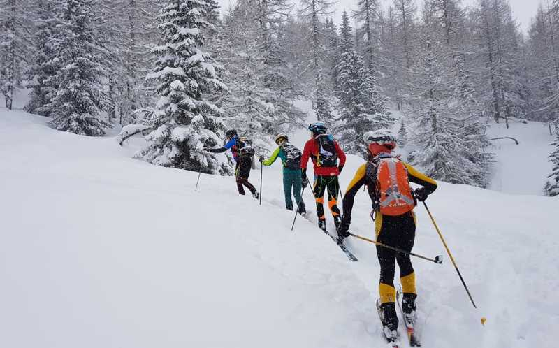Arabba: training ground for four members of the Norwegian national ski mountaineering team