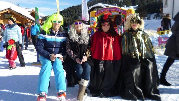 Maschere e tanto divertimento a carnevale sulle Dolomiti di Arabba