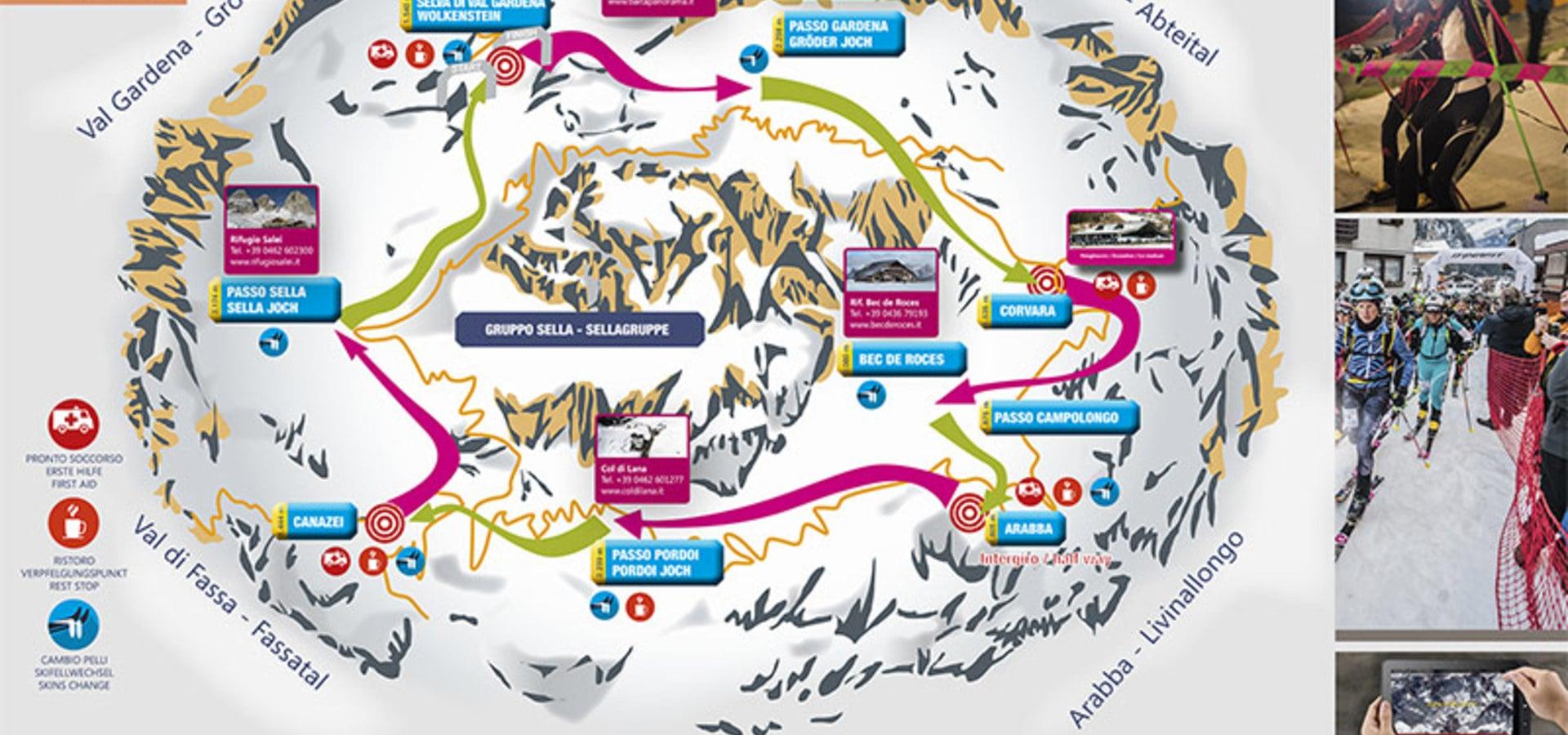 Der Countdown zur 24. Auflage des Sellaronda Skimarathons hat begonnen.