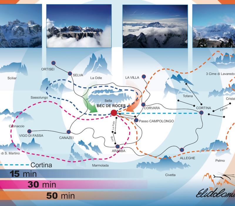 Voli in Elicottero sulle Dolomiti