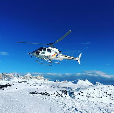 Helicopter flights in the Dolomites