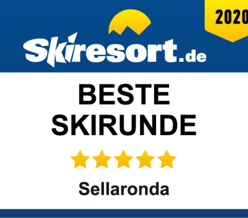 "Arabba-Marmolada AWARDED AS ""BEST SKI CIRCUIT"" WITH SELLARONDA"
