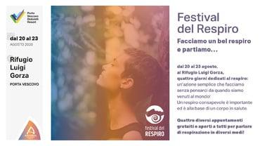 Festival del Respiro in quota