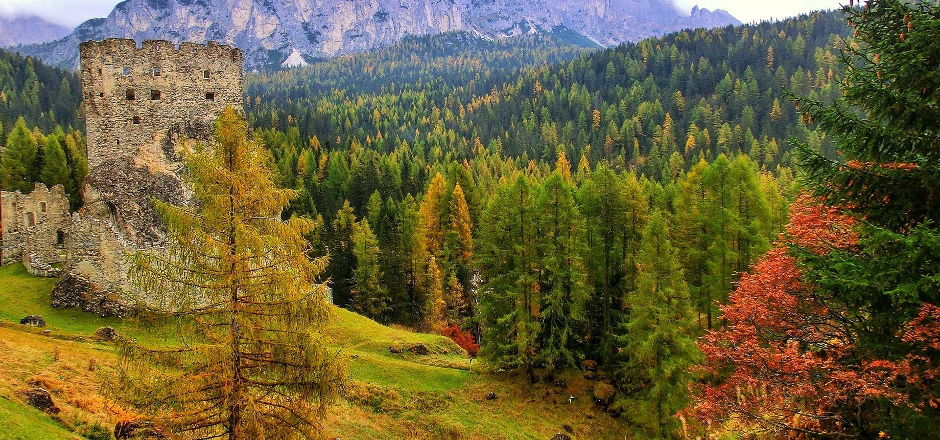 Copia di Herbst in den Dolomiten von Arabba