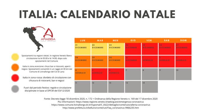 Emergenza Coronavirus: Restrizioni dal 24/12/2020 al 06/01/2021