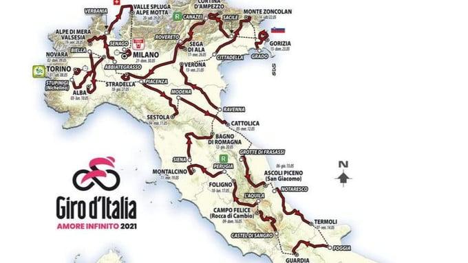Lunedì 24.05.21 il Giro d'Italia passa per Arabba - Fodom