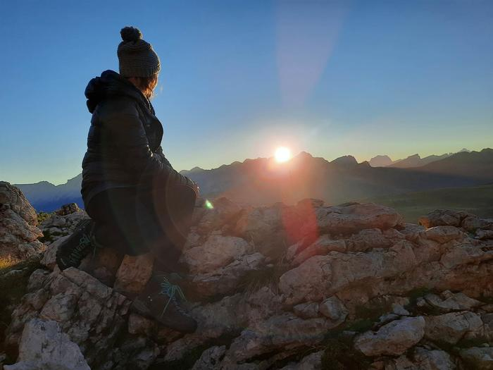 Take in the sunrise from a unique perspective: Sunrise on Bec de Roces