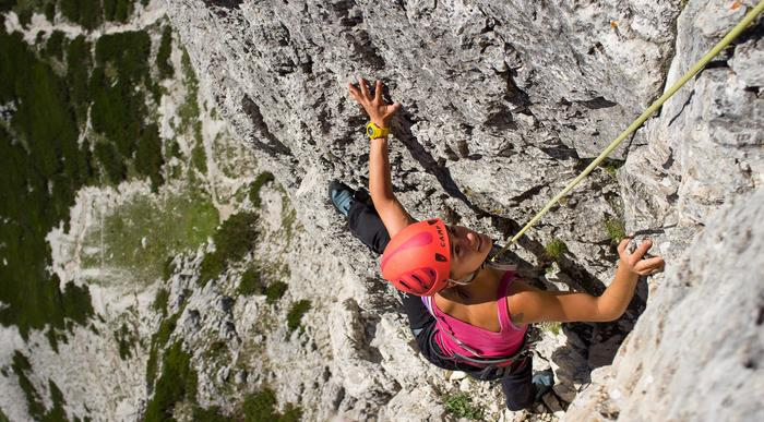 Try rock climbing with a mountain guide