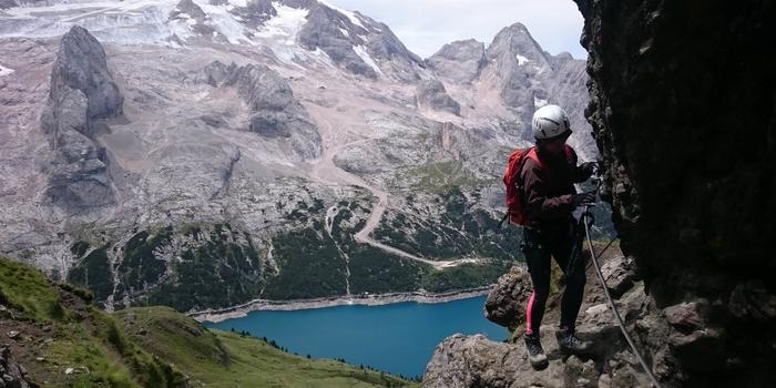Via Ferrata delle Trincee with mountain guide