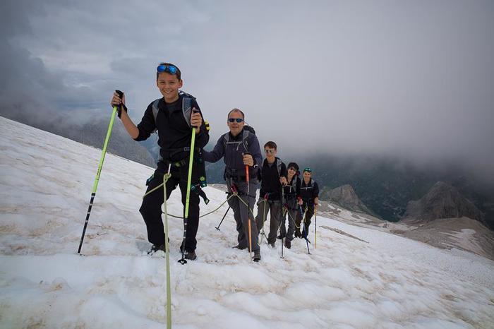 Wander auf dem Gletscher mit dem Bergführer