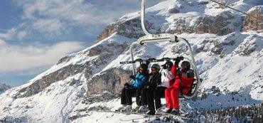 Geöffnete Anlagen im Skigebiet Arabba