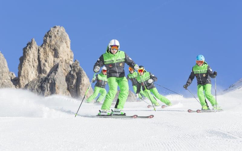Ski school Dolomites Reba