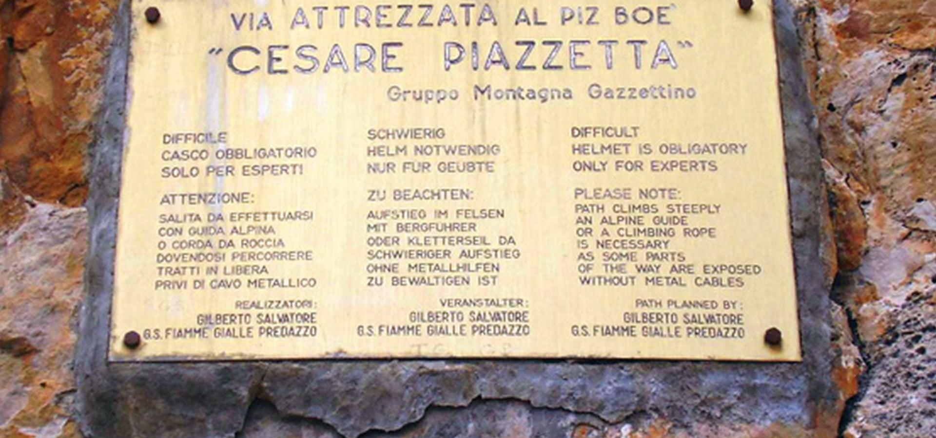 Ferrata Cesare Piazzetta
